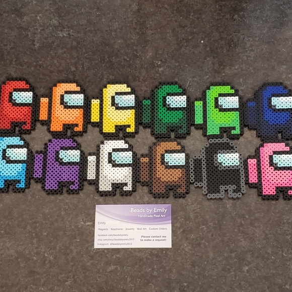 Set of 12 Among Us Magnets- Nerdy Geeky Home Decor